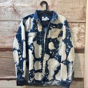 Topman // acid wash denim jacket